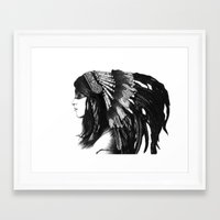 indian Framed Art Prints featuring Indian by Peter Fulop