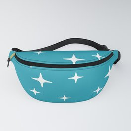 Mid Century Modern Star Pattern 443 Turquoise Fanny Pack