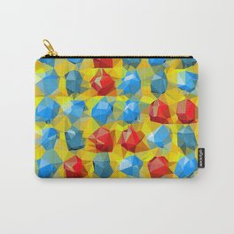 geometric polygon abstract pattern yellow blue red Carry-All Pouch