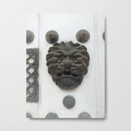 Cartagena Lion Mug, Colombia, South American Metal Print