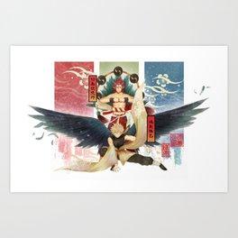 KiriBaku YouKai Version Art Print