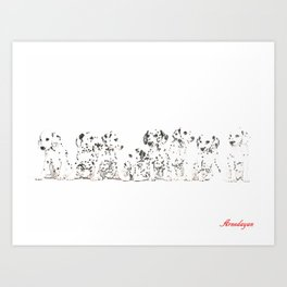 Cachorros de dálmata  ( Dalmatian puppies ) Art Print