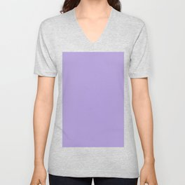 Light Chalky Pastel Purple Solid Color Unisex V-Neck