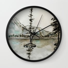 Old Pine IV Wall Clock