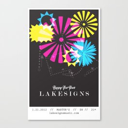 Lakesigns Poster - Martyr's 1-21-2012 Canvas Print