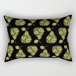 Flower Pear Silhouette Rectangular Pillow