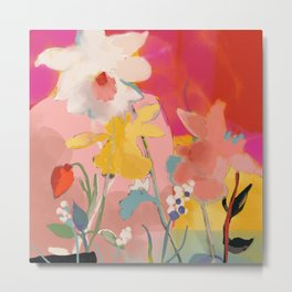 blooming abstract pink Metal Print