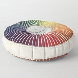 Chevreul Cercle Chromatique, 1861 Remake, vintage wash Floor Pillow