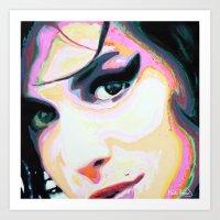 """Amy""  Art Print"