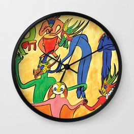 Vejigantes Wall Clock