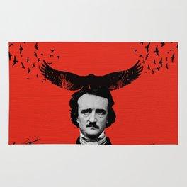 Edgar Allan Poe / Raven / Digital Painting Rug
