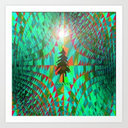 Christmas in Outer Space... Art Print