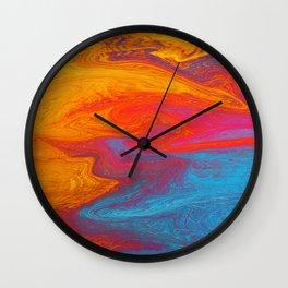 Marbled IX Wall Clock