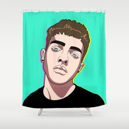 Jesús Lafuente (@fideoindazopa) Shower Curtain
