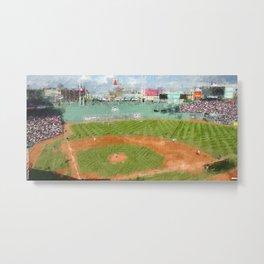 Fenway Park Oil Painting Metal Print