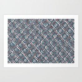 Endless Chainlink Glitch Art Print