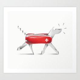 Swiss Dog Art Print