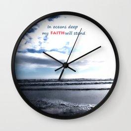 Oceans Deep Wall Clock