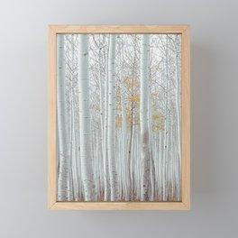 White Birch Tree Winter Forest Framed Mini Art Print