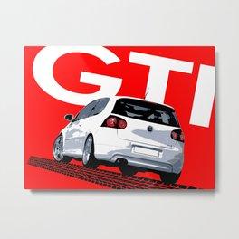Golf GTI MKV MK5 Metal Print