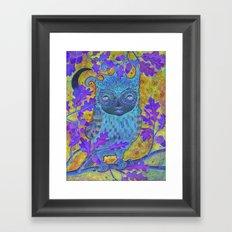 Oak & Owl Framed Art Print
