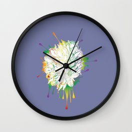 Grunge bouquet of tulips Wall Clock