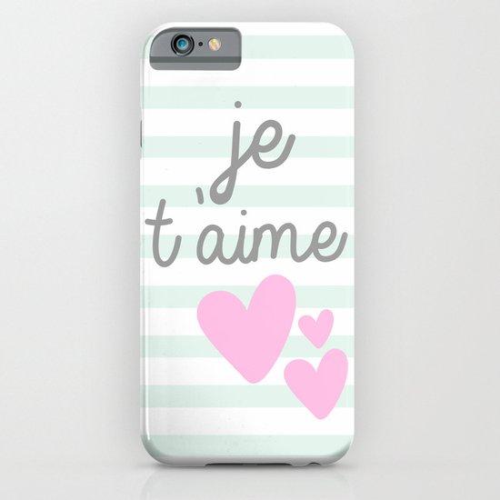 JE T'AIME iPhone & iPod Case