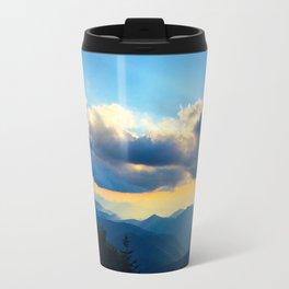 Golden sunset in the Blue Ridge Travel Mug
