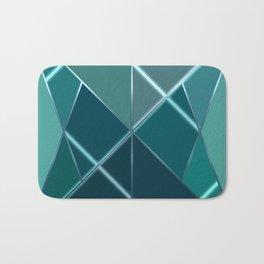 Mosaic tiled glass with black rays Bath Mat