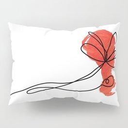 poppy line art Pillow Sham