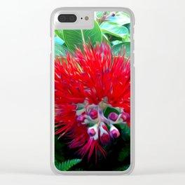 Liko Lehua - Budding Lehua Blossom Clear iPhone Case