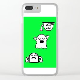 Peek-A-Boos Clear iPhone Case