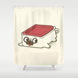 Pupperware Shower Curtain