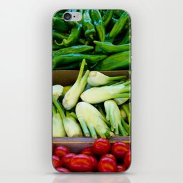 Graphic vegetables iPhone Skin