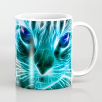 thundercats Mugs featuring Lightining Cat by Augustinet
