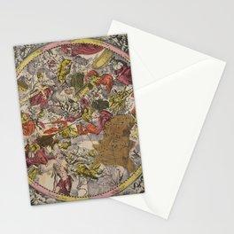 Keller's Harmonia Macrocosmica - Scenography of the Southern Celestial Hemisphere 1661 Stationery Cards