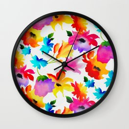 Dancing Floral Wall Clock