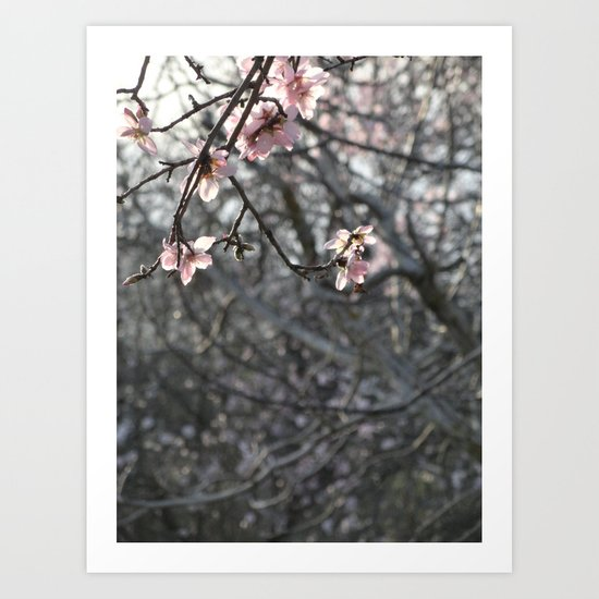 Pink and Grey Art Print