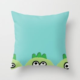 three little dinoes Throw Pillow