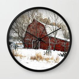 A Cold Day in December Wall Clock