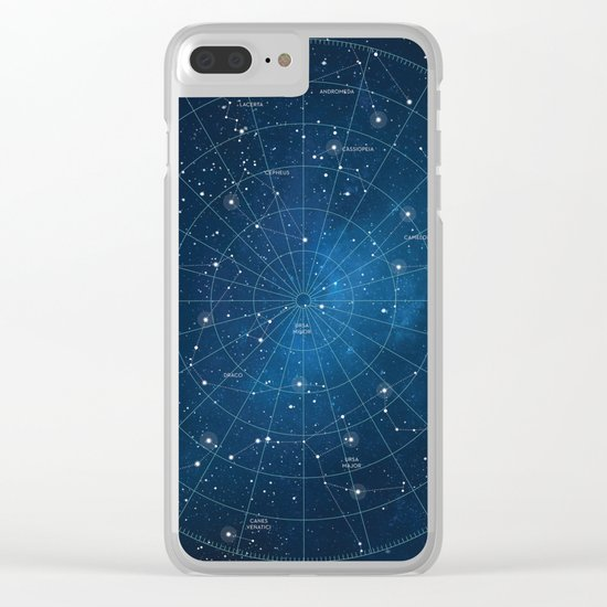 Constellation Star Chart Clear iPhone Case