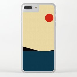 Abstract and geometric landscape 04 Clear iPhone Case