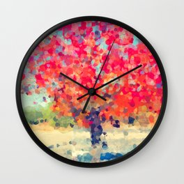 Orange Tree Watercolor  Wall Clock