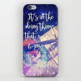 Violin Dream • Find Self Quote • Do What You Love iPhone Skin