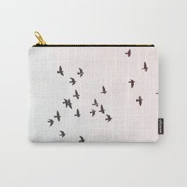 Birds Flying Print Carry-All Pouch