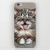 lil bub iPhone & iPod Skins featuring Cat *Lil Bub*  by Pendientera