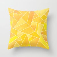 sunshine Throw Pillows featuring Sunshine by Elisabeth Fredriksson