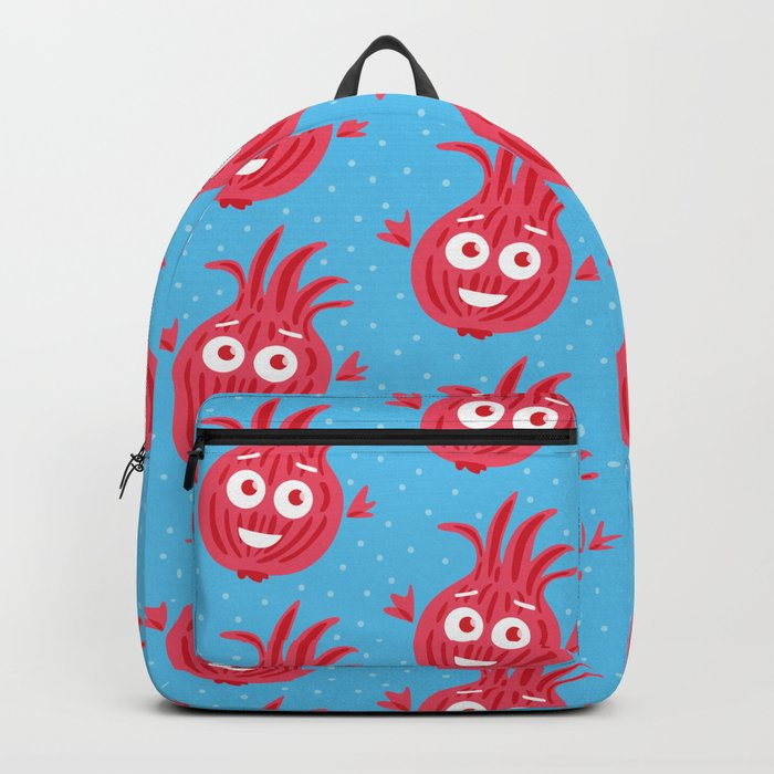 Cute Red Onion Backpack