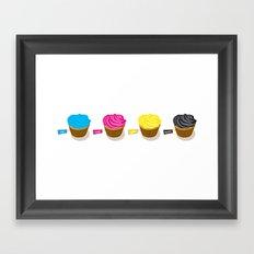 CMYK cupcakes Framed Art Print