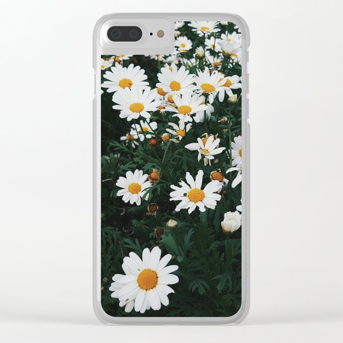 December Daisies Clear iPhone Case